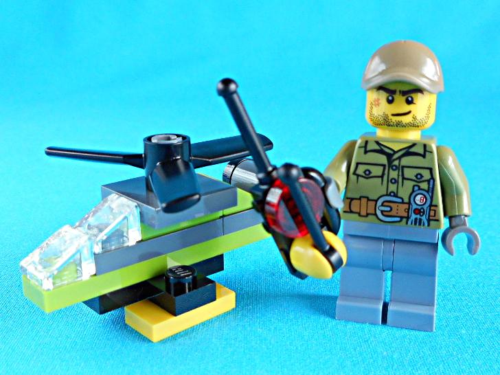 レゴ 60133 ラジコンヘリと火山調査員