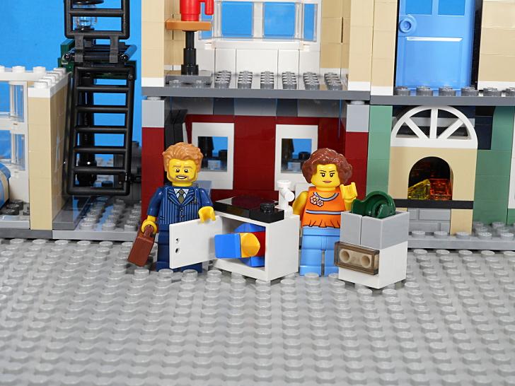 コンロ下の開閉できる収納棚