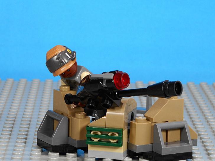 75164 大砲は傾けながら大きく左右に回転