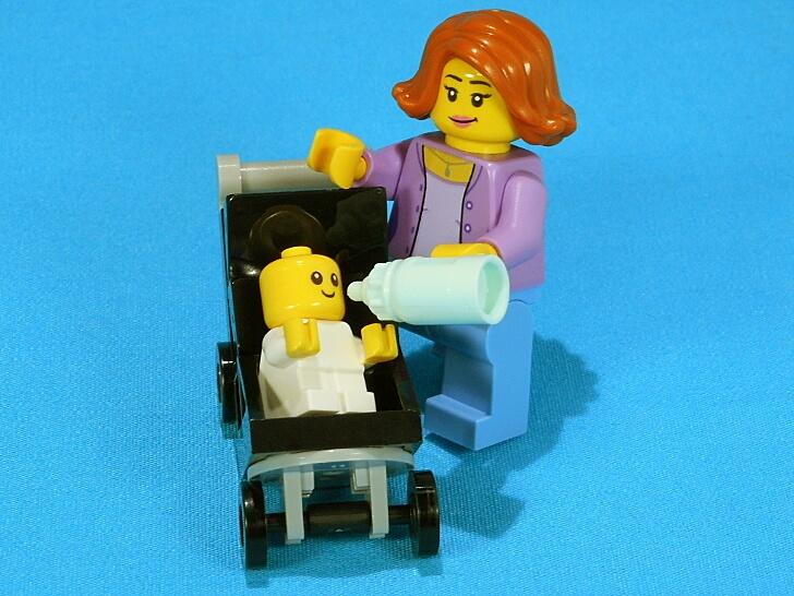 ベビーカーには赤ちゃんが斜めを向けるスペース