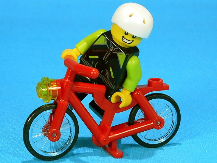愛車の赤い自転車