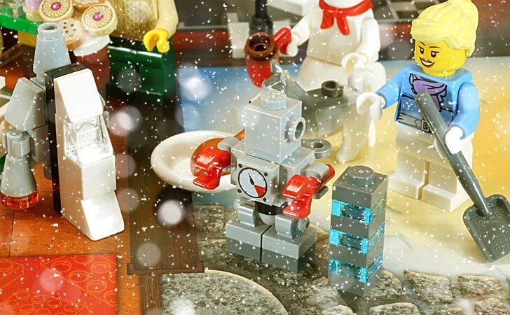 レゴ ねじ巻きロボット
