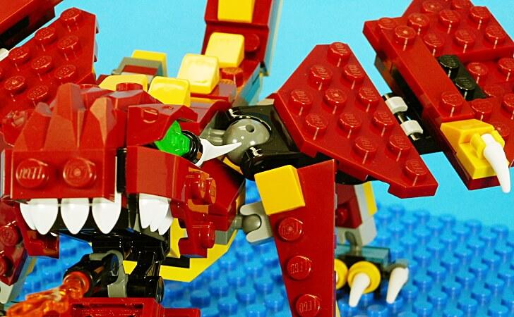レゴ 伝説の生き物のドラゴンの肩関節