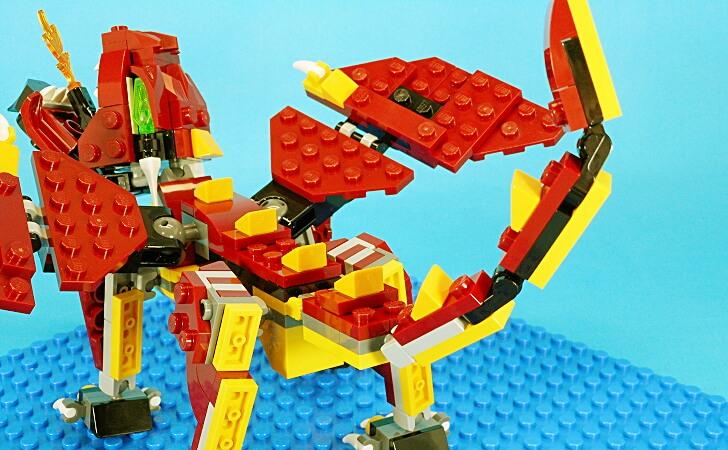 レゴ 伝説の生き物のドラゴンの尻尾