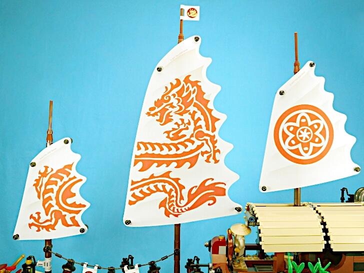 レゴ 空中戦艦バウンティ号の帆