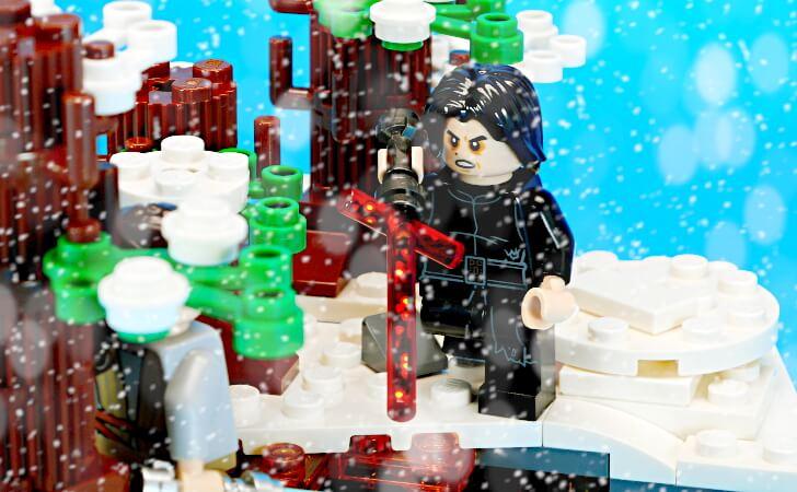 雪降る森にて対決