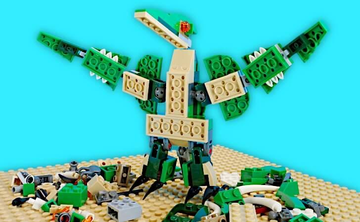 レゴ 組み換えモデルの翼竜