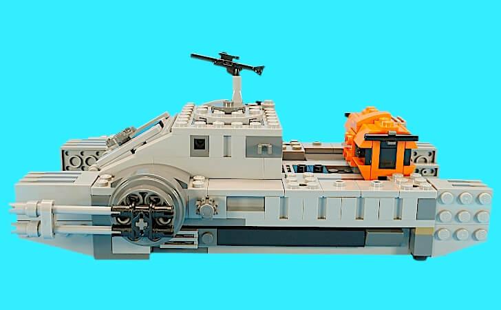 帝国のアサルトホバータンクの全長