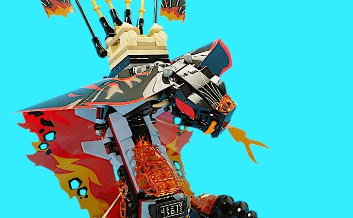 レゴ マグマノオロチの全体像