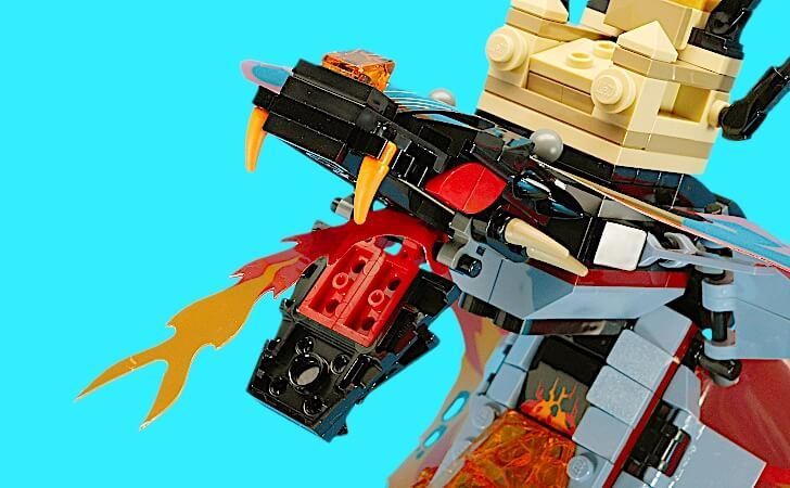 レゴ マグマノオロチの火炎放射