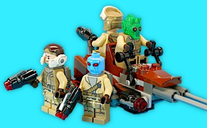 レゴ スター・ウォーズ バトルパック 反乱者たち 75133のミニフィグ
