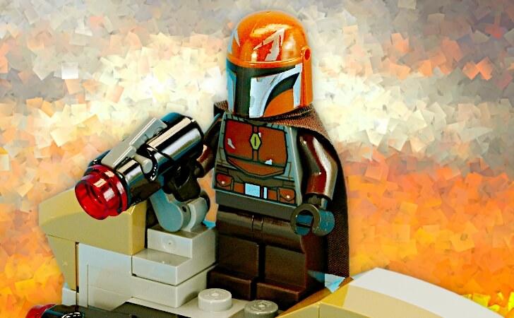 レゴ 茶色いマンダロリアンのミニフィグ