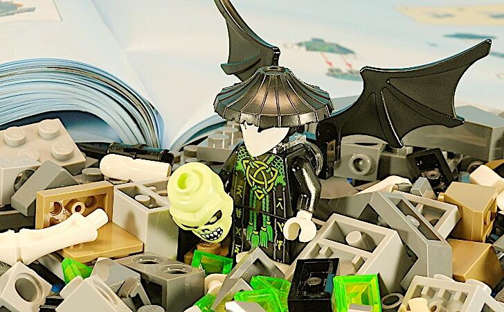 レゴ ドクロ魔法使いのミニフィグ